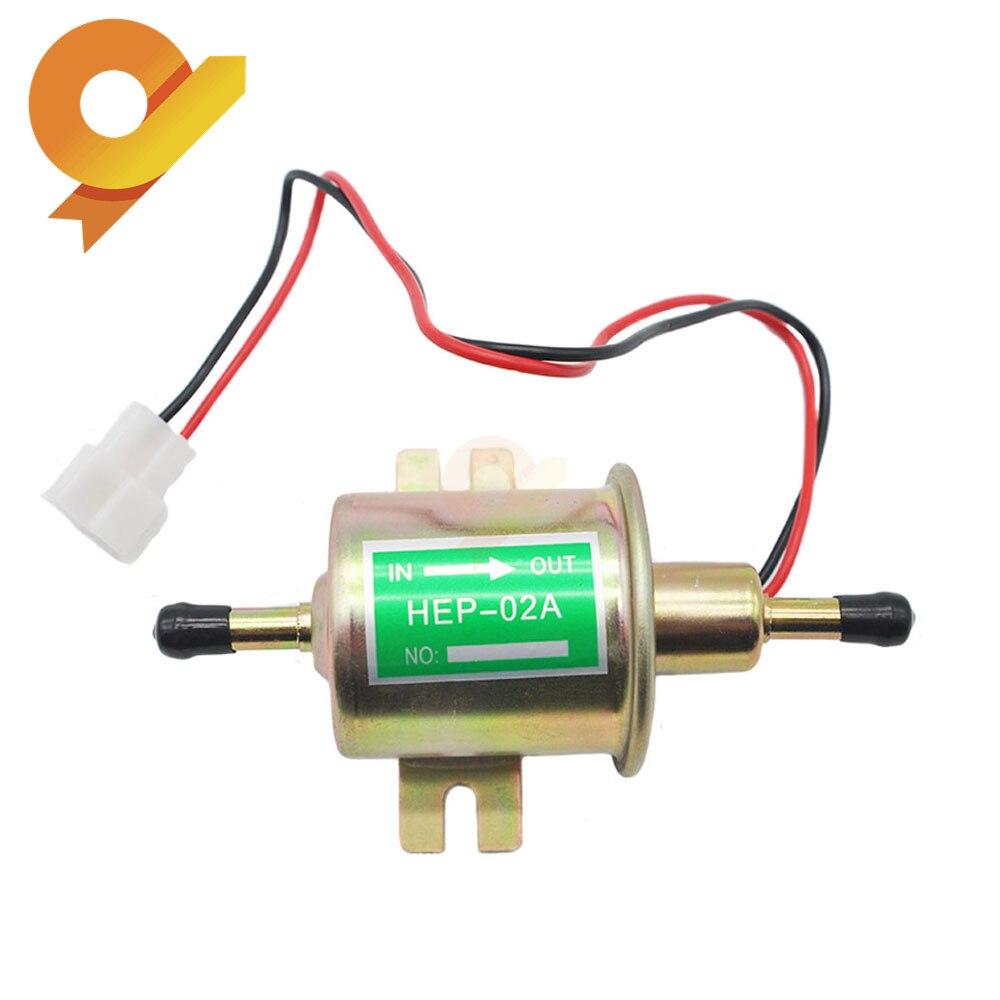 HEP-02A HEP02A, nueva marca, bomba de combustible eléctrica de 12V, Perno de baja presión, alambre de fijación, Diesel, gasolina para carburador de coche, motocicleta ATV