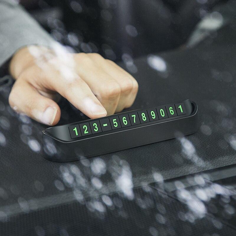 Coche de tarjeta de aparcamiento o número de teléfono para Mercedes-Benz X166 X253 W166 C292 X204 GLK accesorios para coche