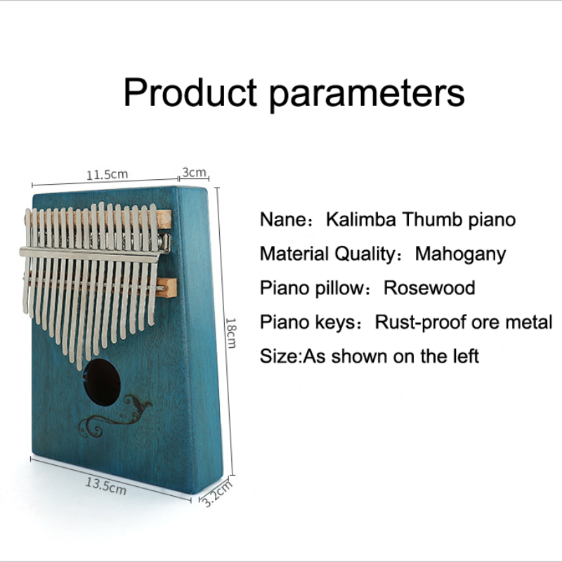 High-quality Mahogany Main Kalimba 17-key thumb piano for beginners to provide a good sound and learning book children instrumen enlarge