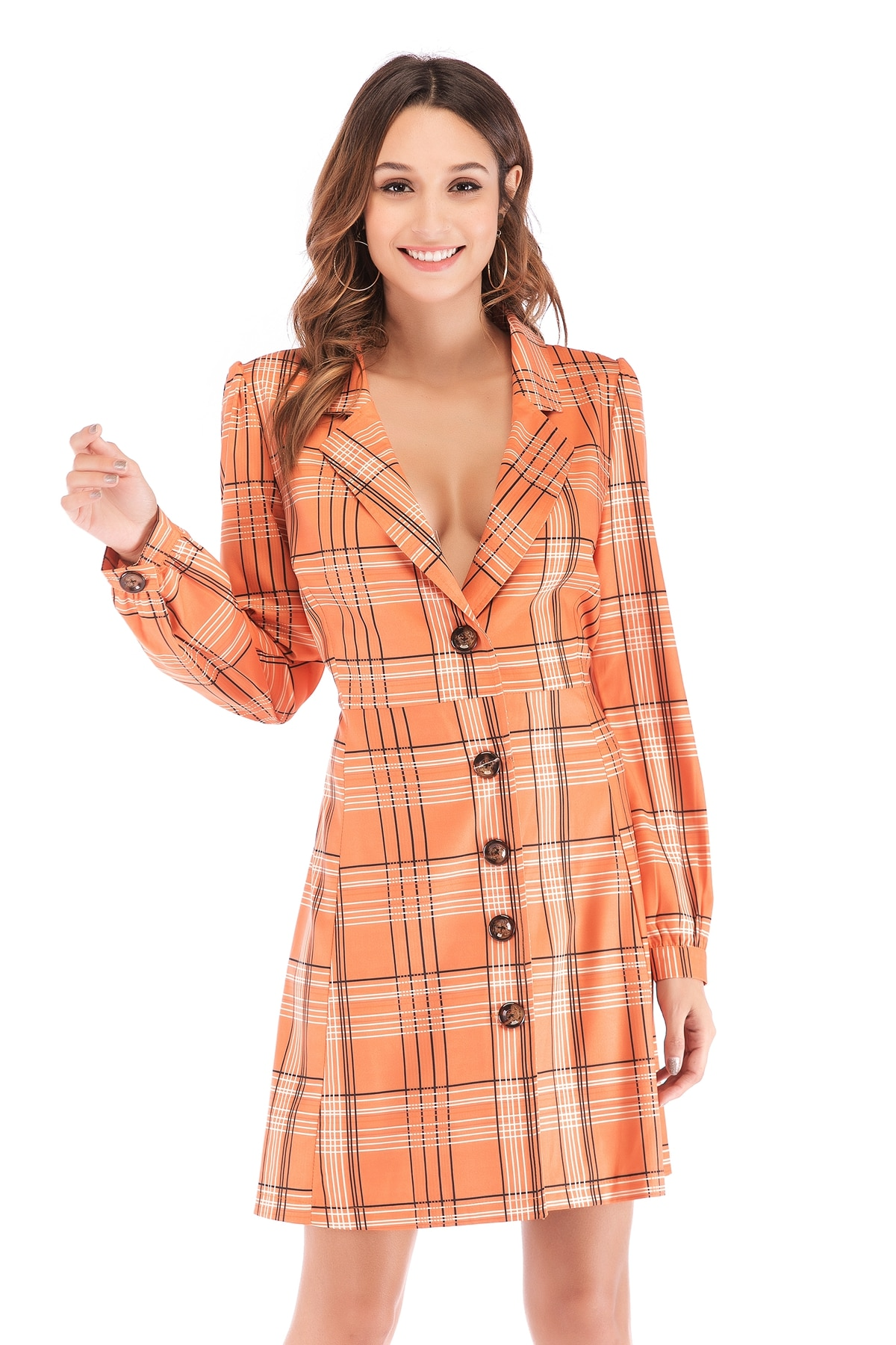 Feminino trincheira solta longo outono moda casaco outerwear