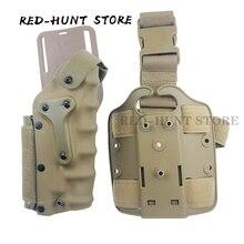 USP/Glock 17/P220 Rgiht Left Hand Gun Holster Tactical Drop Leg Holster Case Leg Platform Waist Holster for Hunting