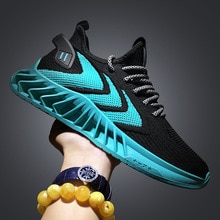 Men Sneakers 2021 summer new fashion running shoes breathable men's casual shoes flying woven sports