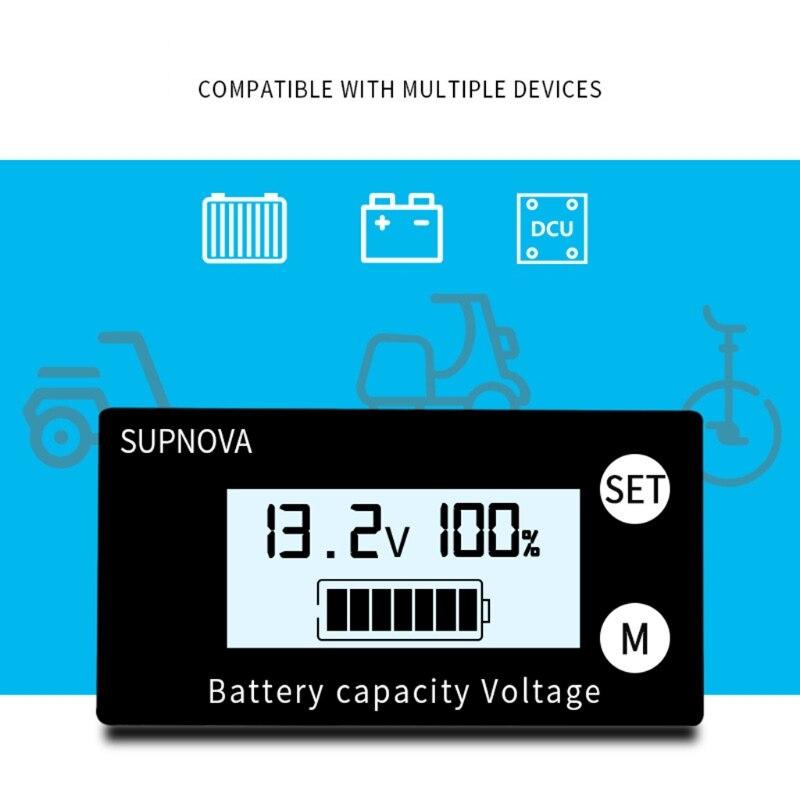 Probador de batería de cable de plomo, 1 metro, indicador de capacidad,...
