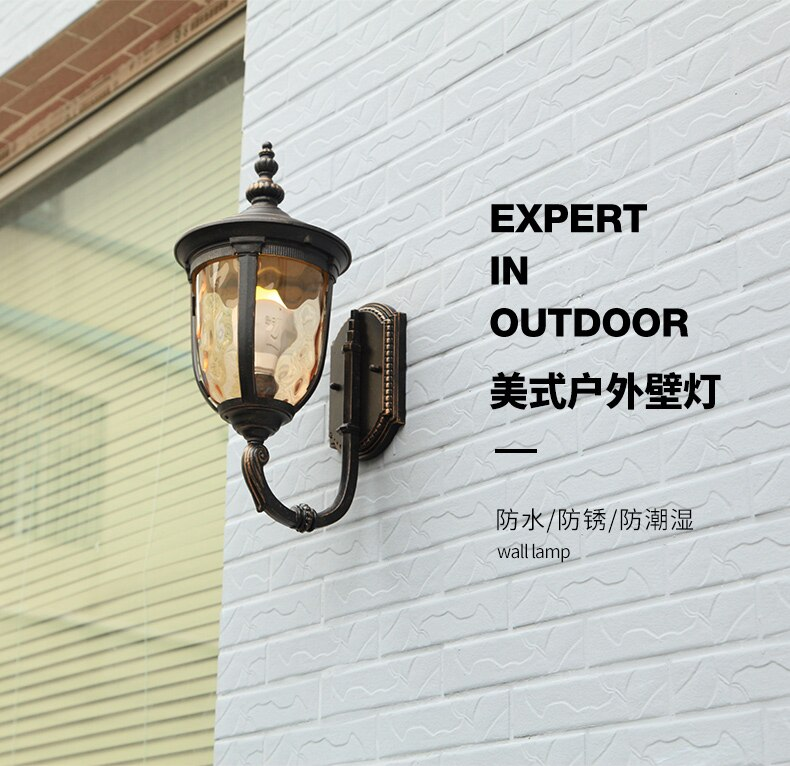 American Aluminum Wall Lamp Outdoor House Lights Led Retro Outdoor Street Lighting Waterproof Aplique Pared Garden Lights Ed50dj enlarge