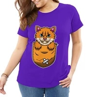 kawaii little tiger women plus size t shirts cotton tops tee oversized large loose graphic t shirt female summer workout shirts