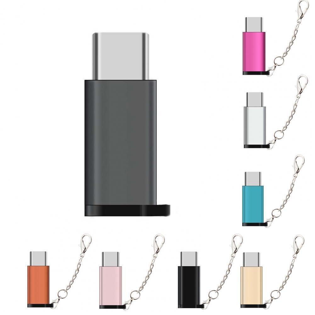 Adaptador multifunción fácil de usar, Cable de Adaptador Micro USB de aleación de aluminio de alta calidad, Micro USB con llavero para almacenamiento USB D