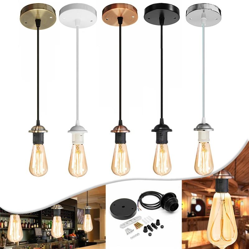 Винтажная основа для лампы Эдисона E27, винтовая потолочная Роза, подвесной светильник, патрон с винтовым цоколем E27 для ретро лампы накалива...