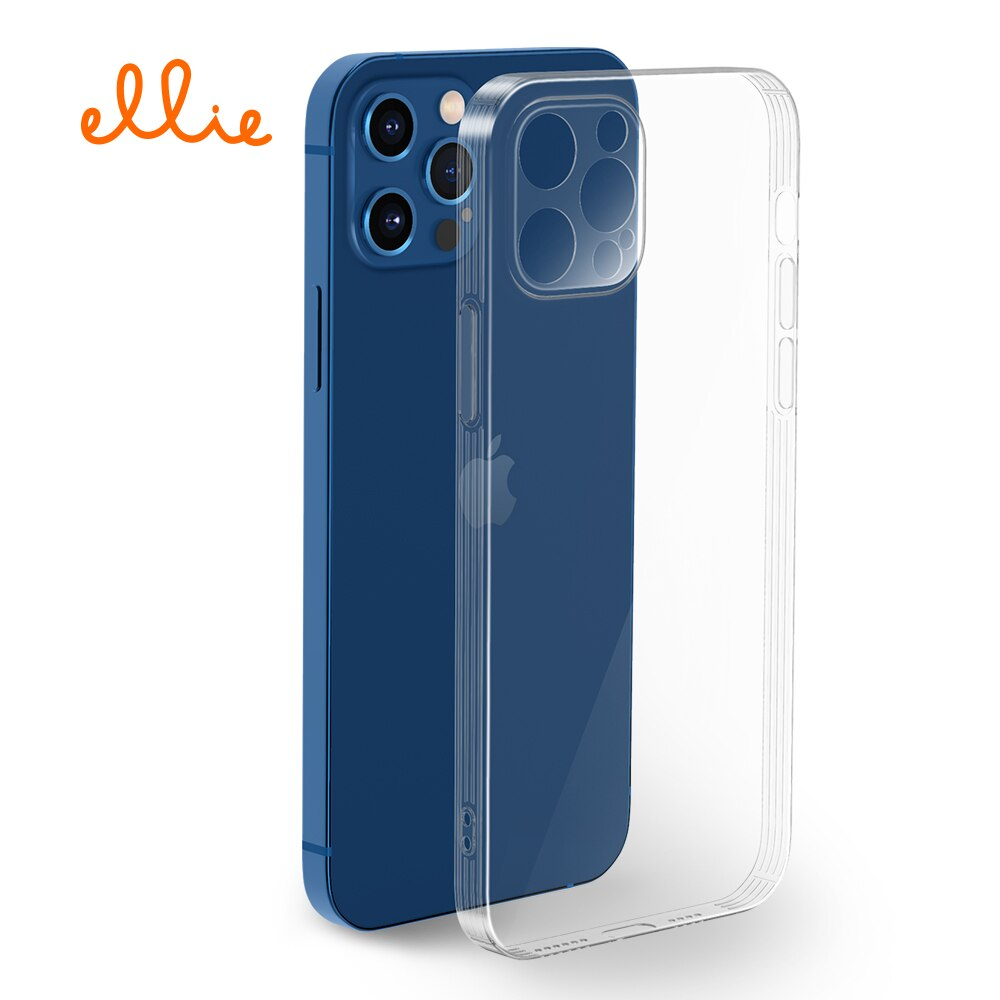 Ellie Thin Clear Back Cover Anti-Fall Soft TPU Silicone for iPhone 11 12 X XS Mini Pro Max Lightweig