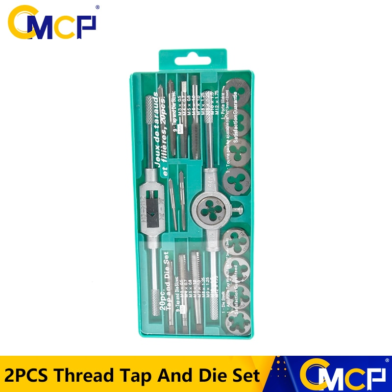 Tap And Die Set 20/40pcs Tap Wrench Threading Tools Metric/Imperial Hand Tapping Tools For Metalworking Screw Thread Tap Die