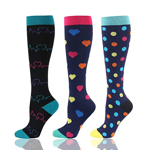 48 Style Compression Socks Running Sports Socks Men Women 30 Mmhg Knee High for Medical Edema Diabetes Varicose Veins Socsk