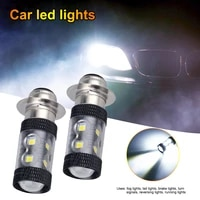 h6p15d led motorcycle headlight bulb super bright for yamaha yfz450r rhino 700 raptor yfm660 trx motorcycle accessories