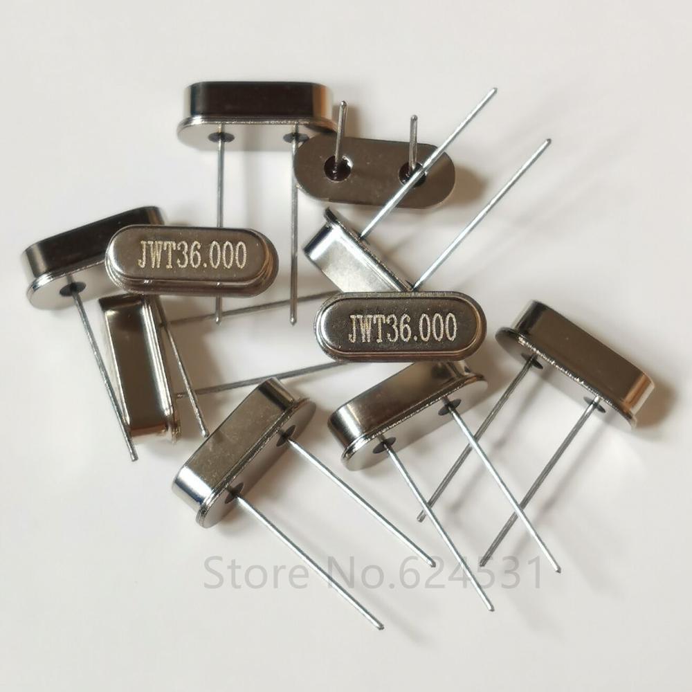10 Uds en línea oscilador de cristal pasivo 36MHZ HC-49S 2P resonador