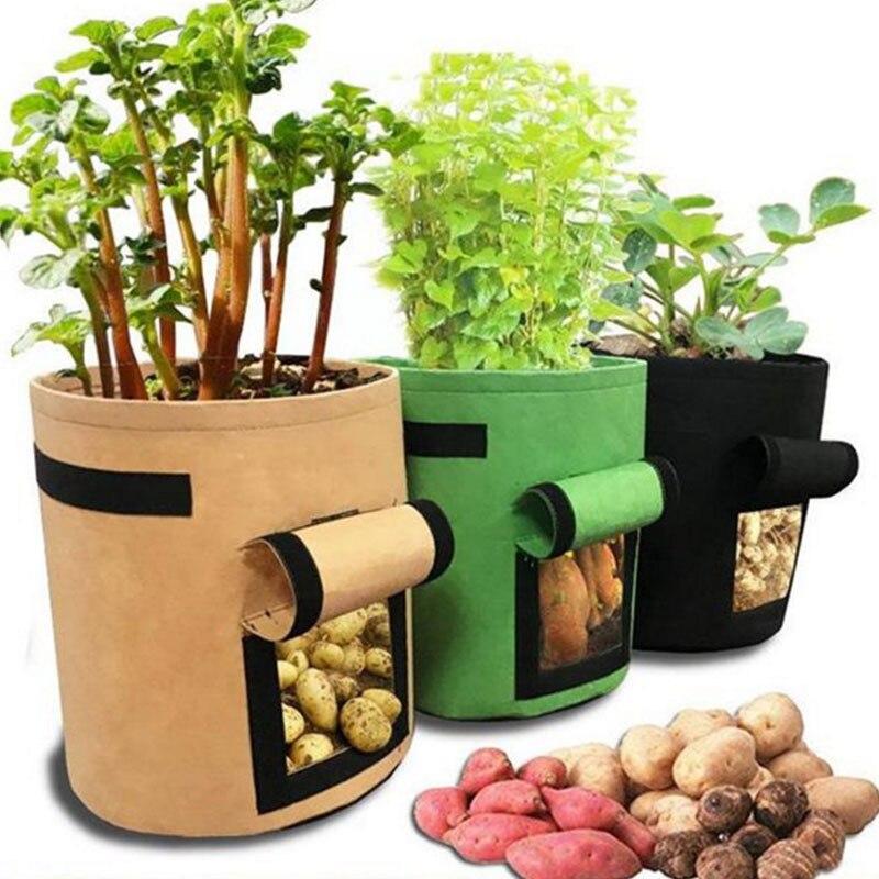 Bolsas de cultivo de plantas de 3 maceta de patatas para el...