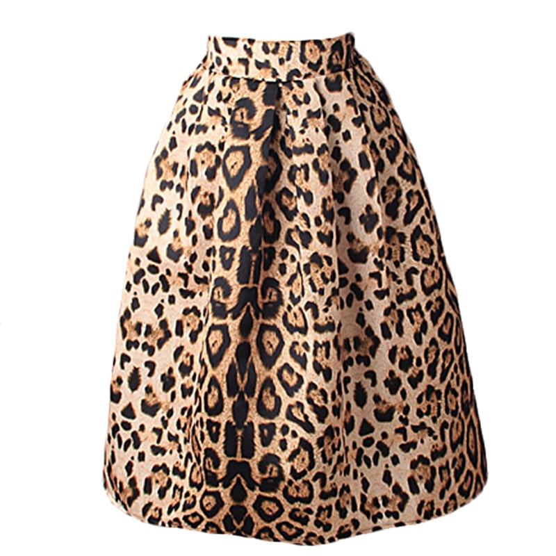 Mujeres Vintage satén leopardo faldas estampadas plisadas verano 2020 alta cintura mujeres Vintage Casual faldas 50s A-Line falda tutú Midi