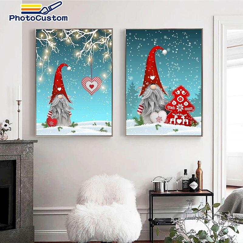 набор для рисования по номерам цветной элегантность в белом марка спейна 40 x 50 см Набор для рисования по номерам на холсте снеговик, 40 х50 см