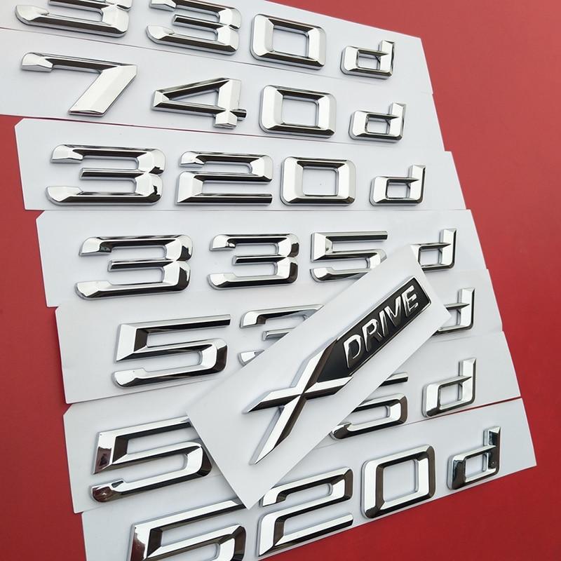 «Сделай сам»; с принтом цифр и букв; с 316d 318d 320d 325d 330d 520d 530d 535d 550d 740d 750d 760d Эмблема Для BMW дизельного топлива багажник с логотипом Sti
