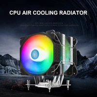 cpu air cooler polar iceflow v600 single tower cpu cooler with dual 120mm rgb led fans 6 heatpipes for amd fm2 fm1 am3 am3 am2
