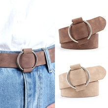 Fashion Womens Designer Round Casual Ladies Belts For Jeans Modeling Belts Without Buckles Leather B