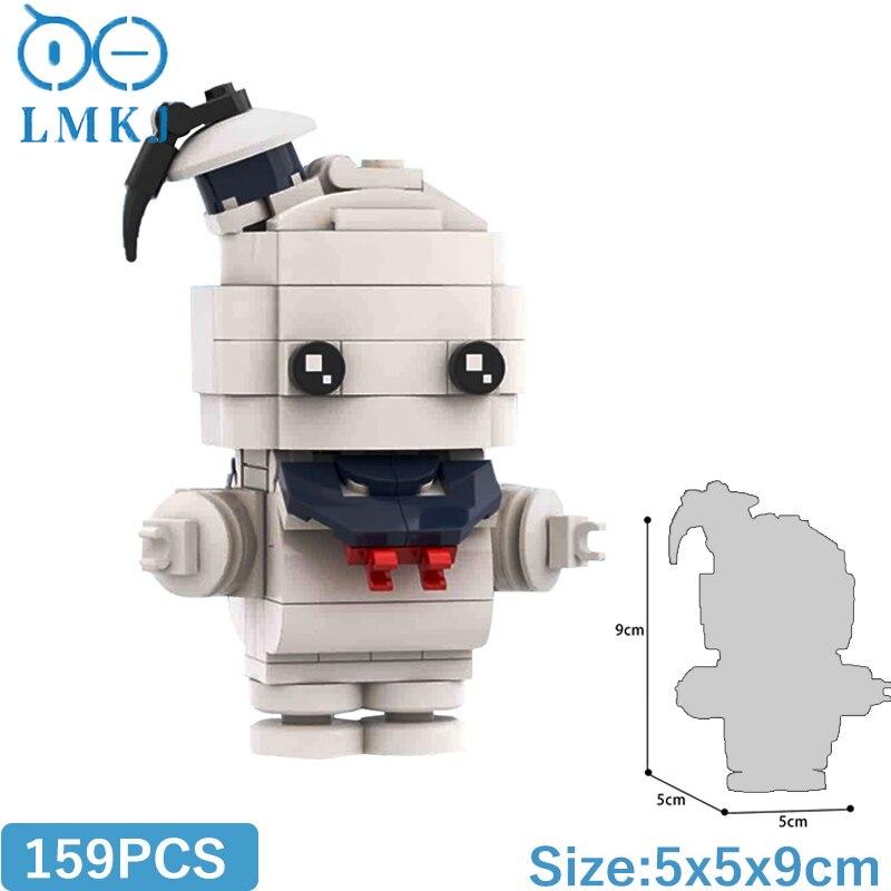 Фигурка MOC из аниме «Brickheadz», фигурка из серии, мини-модель, строительные блоки «сделай сам», кирпичи, милая кукла, развивающие игрушки для дет...