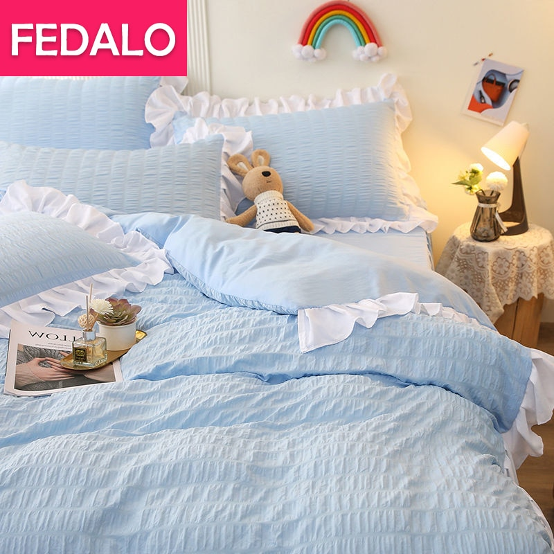 النسخة الكورية من الأميرة نمط أربع قطع مجموعة ins فتاة القلب تنورة نوم مجموعة غطاء سرير لحاف لتغطية الفراش ثلاث قطع مجموعة 4