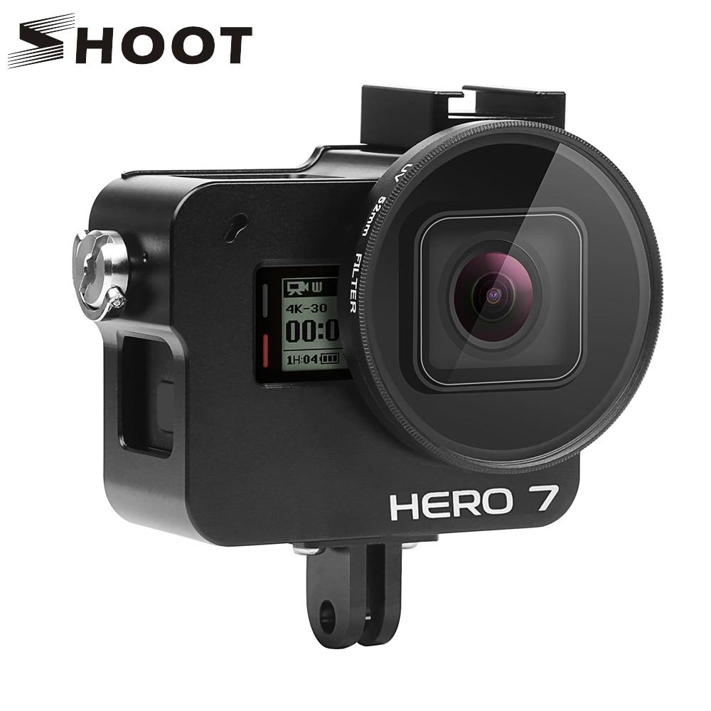 SHOOT-funda protectora de aleación de aluminio CNC para GoPro Hero 7, 6,...