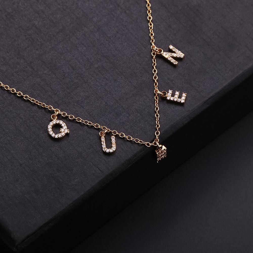 Ожерелье из нержавеющей стали с надписью «HOPE», «сделай сам», 26 букв, ожерелье на заказ, булавка с именем на заказ, цепочка с надписью, подарок ...