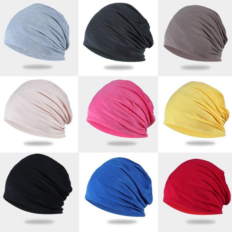 Sparsil Unisex Autumn Beanies Solid Hip-Hop Pile Cap Men Women Fashion Thin Casual Skullies Breathable Dance Hats Bonnet