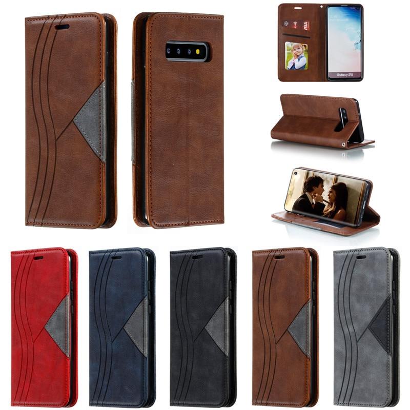 Funda tipo billetera de cuero Tikitaka para Samsung Galaxy A70, A50, A40, A30, Note10, S10, S9, A7, 2018, funda con tapa con ranuras para tarjetas