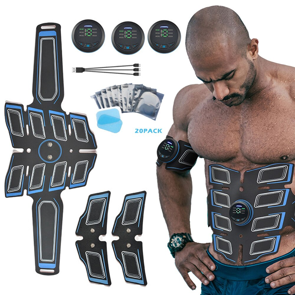 Abdominal Muscle Stimulator Trainer EMS Abs Wireless Leg Arm Belly Exercise Electric Simulators Massage Press Workout Home Gym