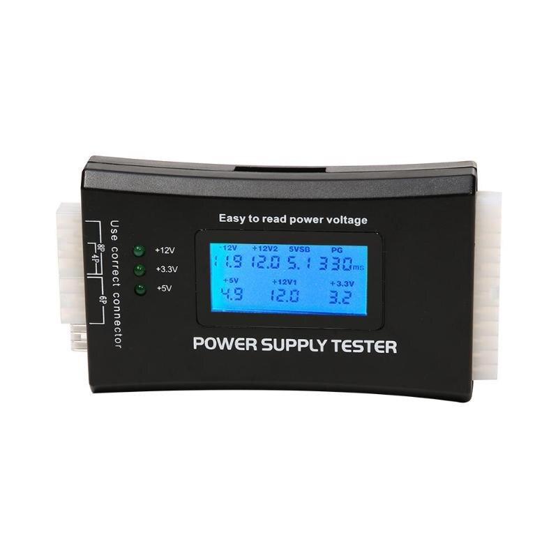 Pantalla LCD Digital de 20/24 Pines, probador de fuente de alimentación por ordenador, comprobador de diagnóstico de medición de suministro de Banco rápido