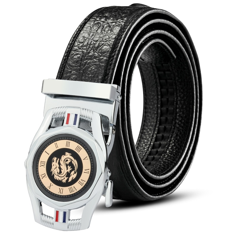 CKMN Brand Genuine Leather Automatic Men Belt Luxury Strap For Designer High Quality Fashion Male