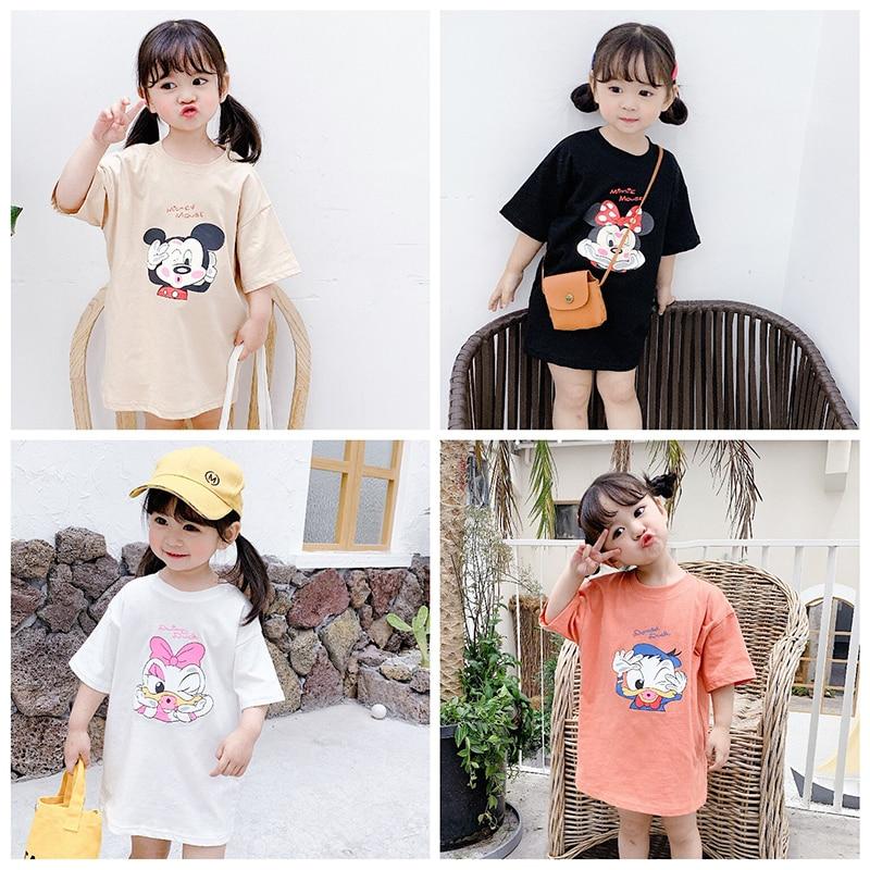 2020 New Disney Children Clothing Spring Summer Cotton Girl Boy Toddler T-shirt Mickey Minnie Cartoon Print Lovely Kids T Shirt