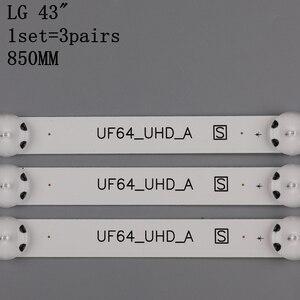 Image 5 - Светодиодная подсветка 3 шт x 43 дюйма для LG 43uh619v 43UH610V 43UH6030 UF64 UHD _ A 43LH5700 43LH60FHD HC430DGG SLNX1 43UF6400 43LG61CH