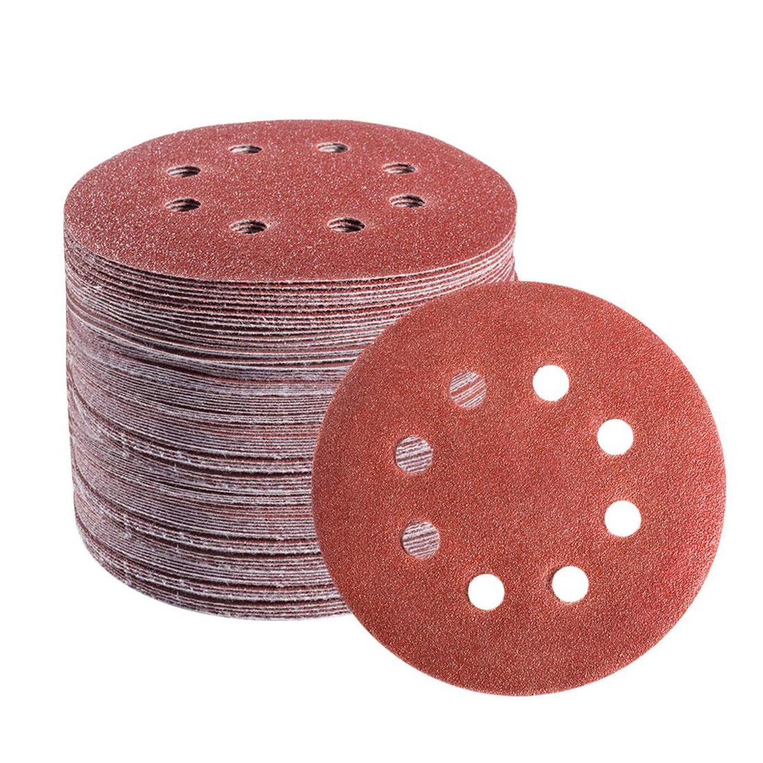 Фото - наждачная бумага шлифовальный диск наждачка на липучке 100 шт. 125 мм абразивные инструменты шлифовальный круг шлифовальные диски на липучке ... шлифовальный круг на липучке fit 39666 125 мм 5 шт