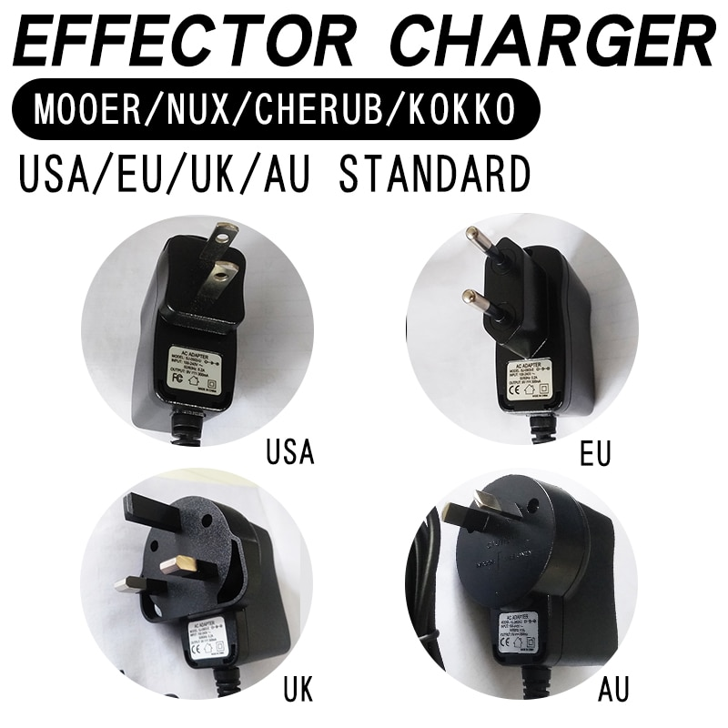 Cargador de efectos MOOER NUX Cherub KOKKO USA estándar EU estándar UK estándar AU cabeza de carga general estándar