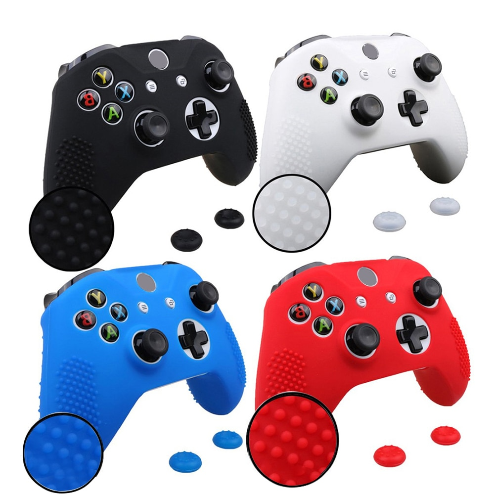 Protective Cover Shell For Xbox Joystick Studded Anti-Slip Silicone Cover Skin Set For Xbox One S/Xbox One X Controller