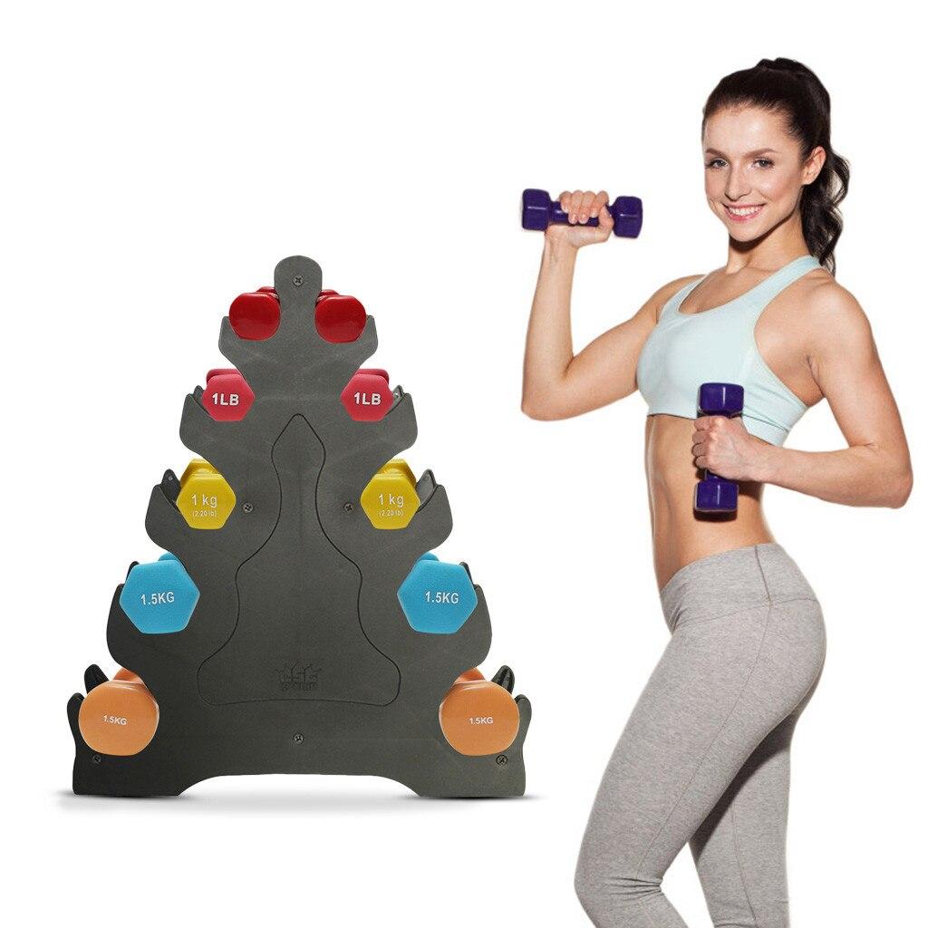 Soporte portátil para Mancuernas de 5 niveles, para gimnasio en casa, ejercicio,...
