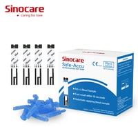 blood test sugar strips Sinocare 25 Separated Blood Glucose Test Strips and Lancets (for Safe-Accu only)