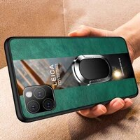 luxury leather silicone magnetic phone case for iphone 11 pro max se xsmax xr xs x 8 7 6s 6 plus ring bracket cover