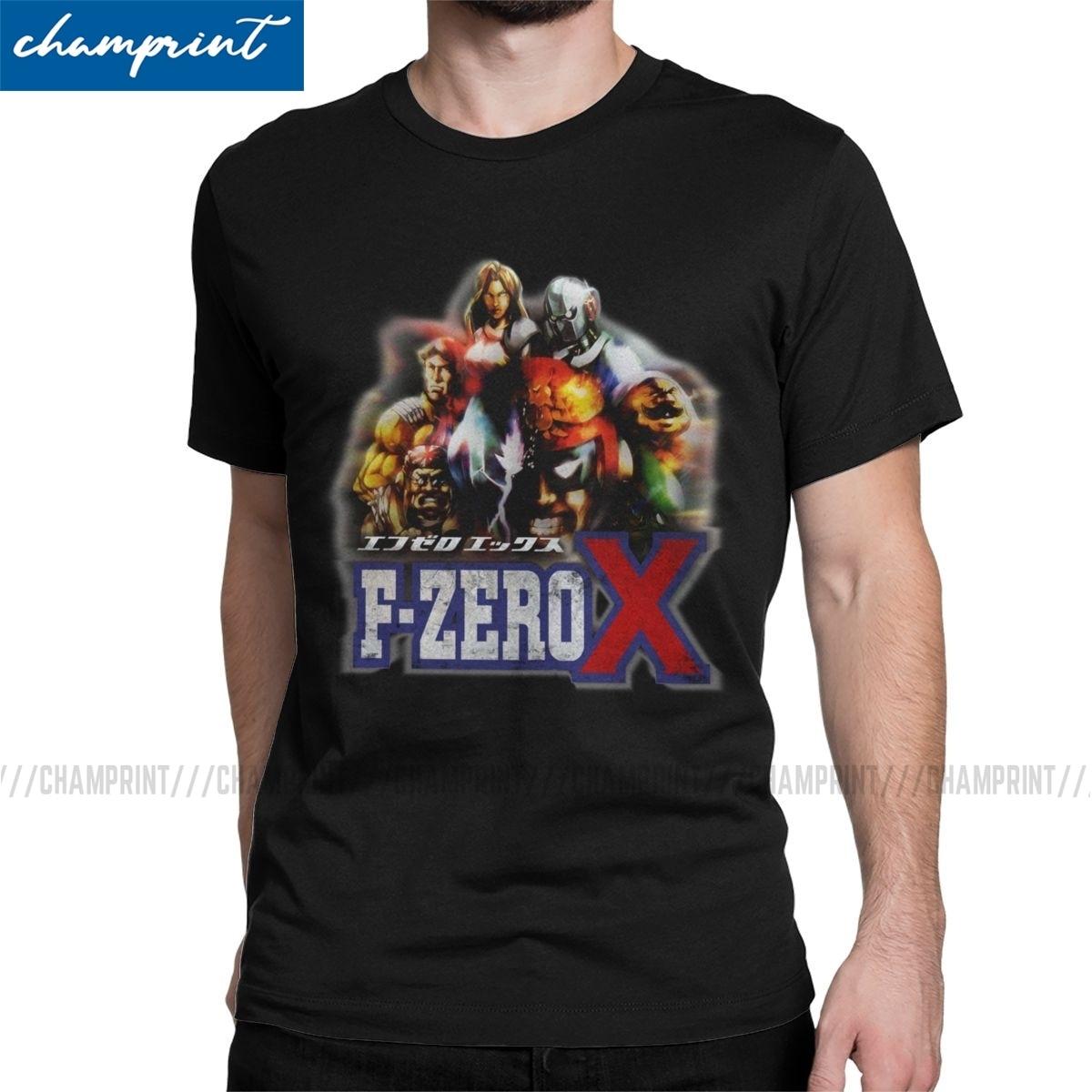 Camisetas F-Zero X, camisetas divertidas de algodón puro para hombre, camisetas Retro con cuello redondo para juegos de carreras, ropa de manga corta de talla grande