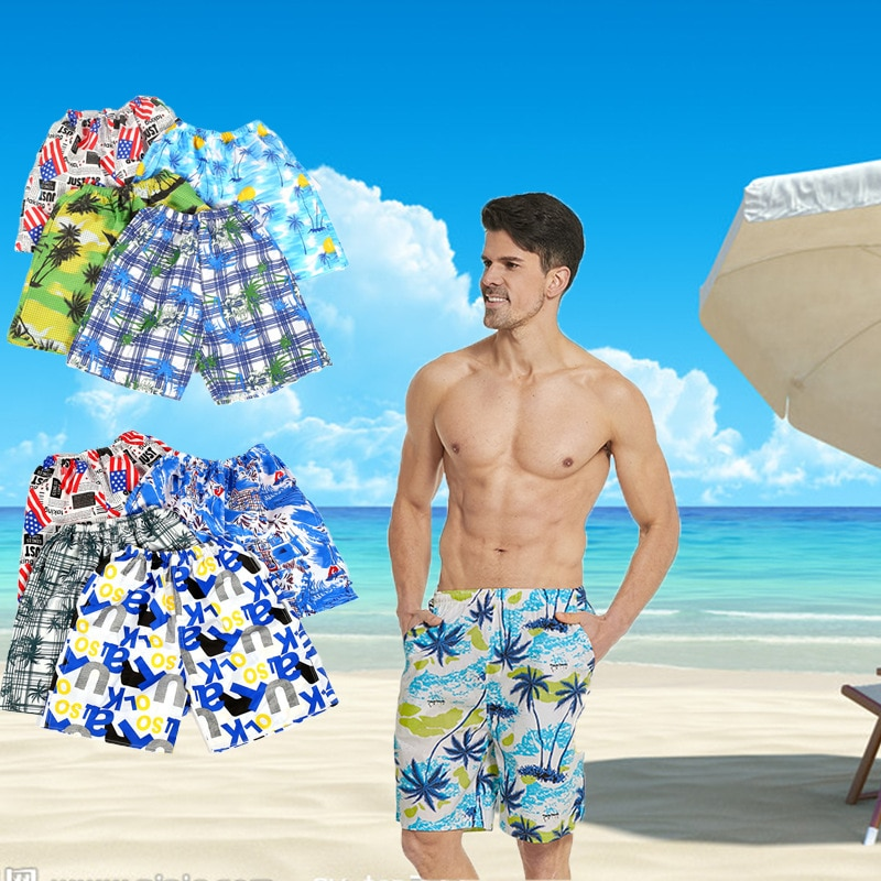 2020 shorts homens casual impresso bolso praia trabalho esporte calças shorts spodenki meskie pantalones cortes curto masculino
