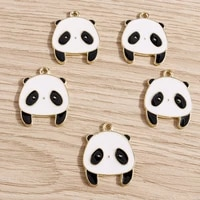 10pcs 2024mm cute enamel depressed panda charms for diy making pendants necklaces bracelets earrings handmade jewelry crafts