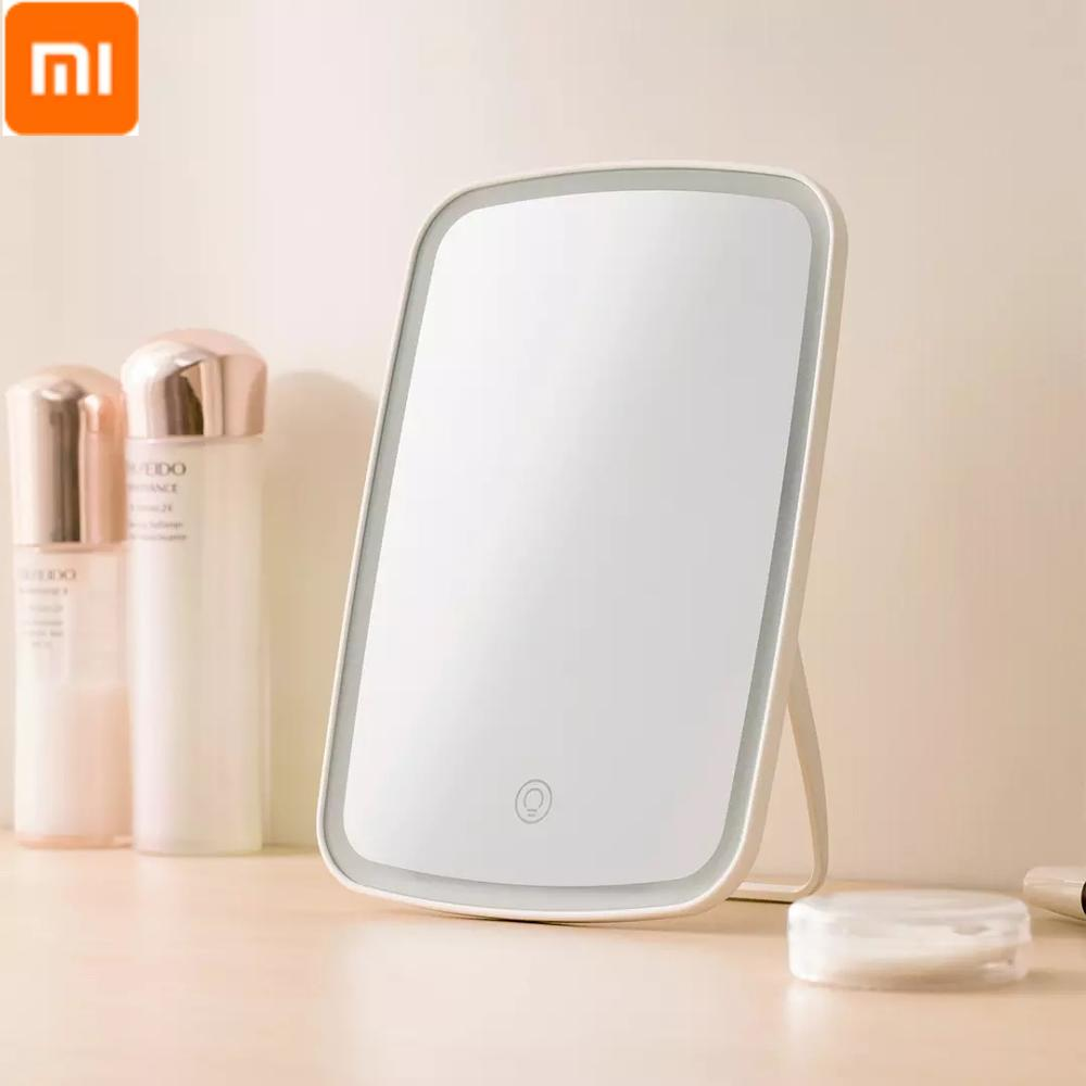 desktop 36led facial makeup mirror compact size 180 degree rotation tabletop cosmetic makeup mirror with magnification new Xiaomi Mirror Mackup with LED USB Charge Cosmetic Mirror Touch Dimmer Switch Operat Stand for Tabletop Bedroom makeup mirror Led