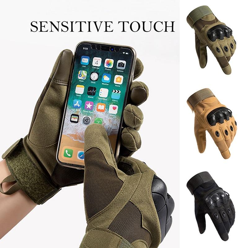Тонкие тактические перчатки, мужские спортивные перчатки с закрытыми пальцами, Нескользящие велосипедные перчатки, носимые перчатки без п...