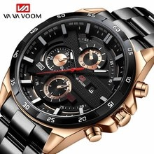 2021Top Brand Watch Men Stainless Steel Business Date Clock Waterproof Luminous Watches Mens Luxury