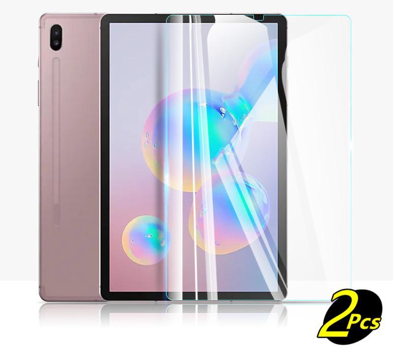 """2 piezas de membrana de vidrio templado para Samsung Galaxy Tab S6 10,5 galss SM-T860 película de acero Tablet PC pantalla SM-T865 10,5 """"Protección"""