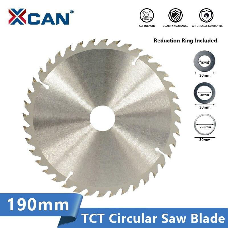 XCAN Wood Saw Blade Tungsten Carbide Tipped Wood Cutting Disc 190x30mm 20 24 40 Teeth Circulaw Saw Blade