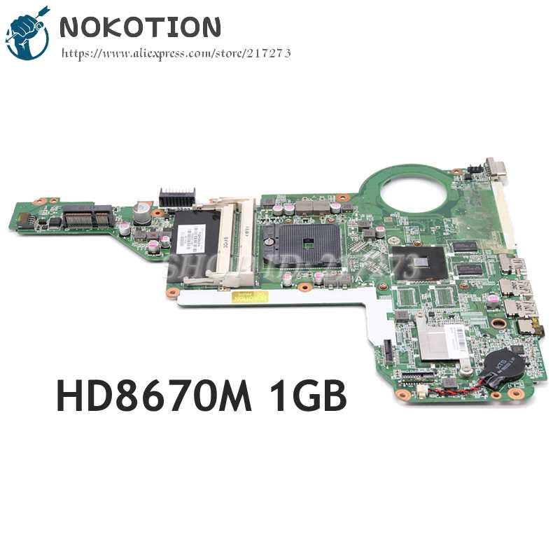 اللوحة الأم للكمبيوتر المحمول, اللوحة الأم للكمبيوتر المحمول NOKOTION لـ HP 15-E 17-E 720692-001 720692-501 DA0R75MB6C0 مقبس اللوحة الرئيسية FS1 HD8670M 1GB