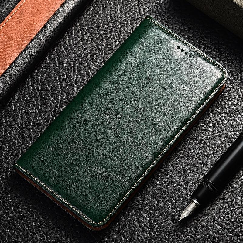 Caballo Loco Flip caso de Huawei honor 5a 5c 5x6 6a 6c 7 7a 7i 7x8 8c 8x 8a 8s 9 9i 10 Plus Lite Pro bolsa de soporte de cuero genuino