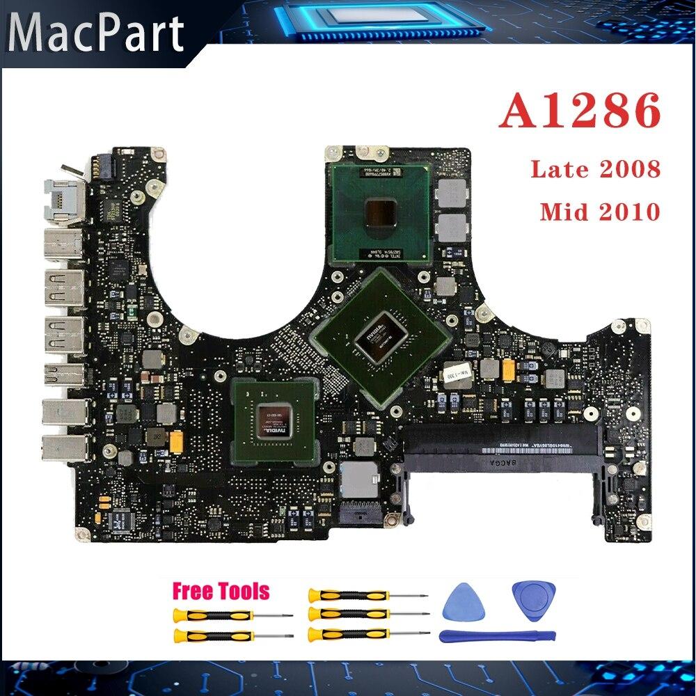 "Placa base Original probada A1286 820-2330-A/B 820-2330-A/B para MacBook Pro 15 ""placa lógica Core i5 i7 Late 2008 Mid 2010 años"
